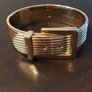 Michael Kors Gold Buckle Bangle Bracelet
